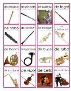 memorie muziekinstrumenten