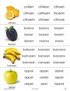 zoek het goede woord - fruit groente
