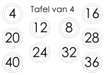 tafelspel 3 en 4