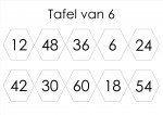 tafelspel 6 en 7