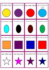 vormen en kleuren memorie